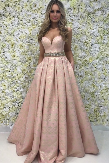 Elegant A-Line Sweetheart Beading Teenage Floor-Length Online Prom Dress Sale | Suzhoudress UK