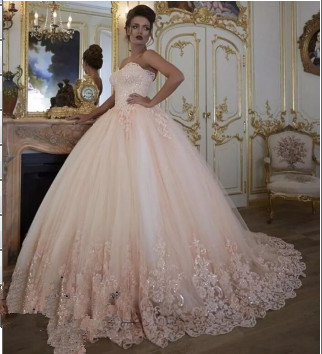 Stunning Teenage Tulle Appliques Ball Gown Online Prom Dress Sale | Suzhoudress UK