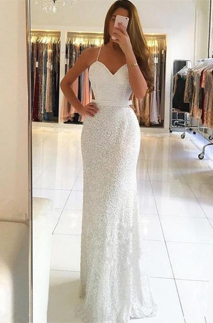 Elegant Thin Straps Teenage A-Line Floor-Length Online Prom Dress Sale | Suzhoudress UK