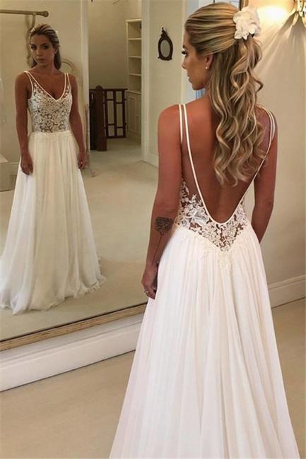 Charming Womens V-Neck Teenage Appliques A-Line Floor-Length Online Prom Dress Sale   Suzhoudress UK