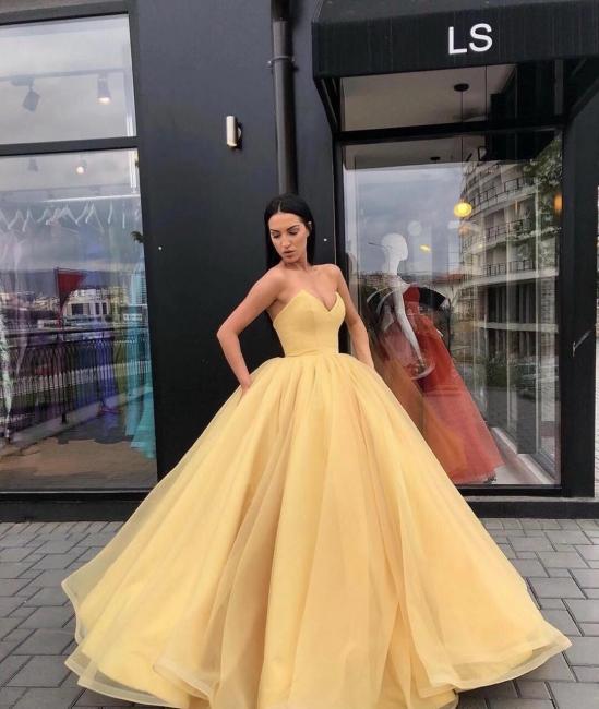 Elegant Ball Gown Strapless Strapless Floor-Length Prom Dress | Suzhou UK Online Shop