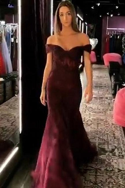 Trumpet Off-the-Shoulder Strapless Long Prom Dress | Suzhou UK Online Shop