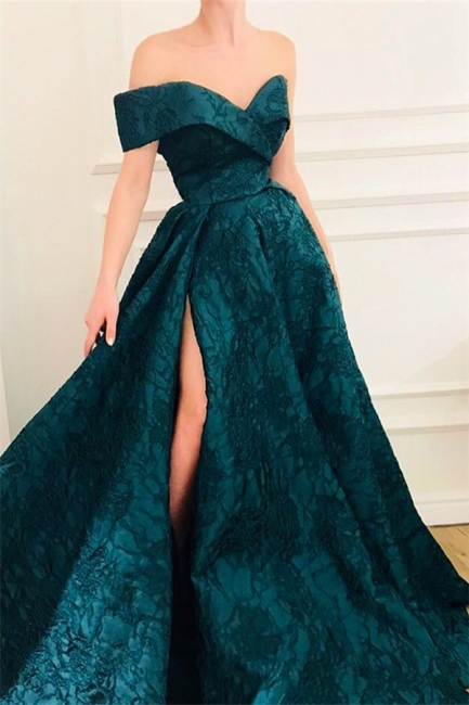 Elegant Fitted Off The Shoulder Lace Evening Dresses Online | New Styles