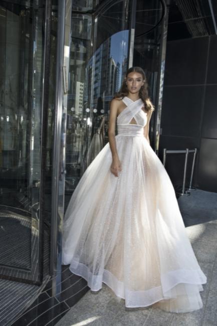 Chic Princess A-line Summer Sleeveless Cross-Back Long Prom Dress | Suzhou UK Online Shop