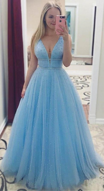 Glamorous Sequins Straps Prom Dresses   Sleeveless Evening Dresses with Beads