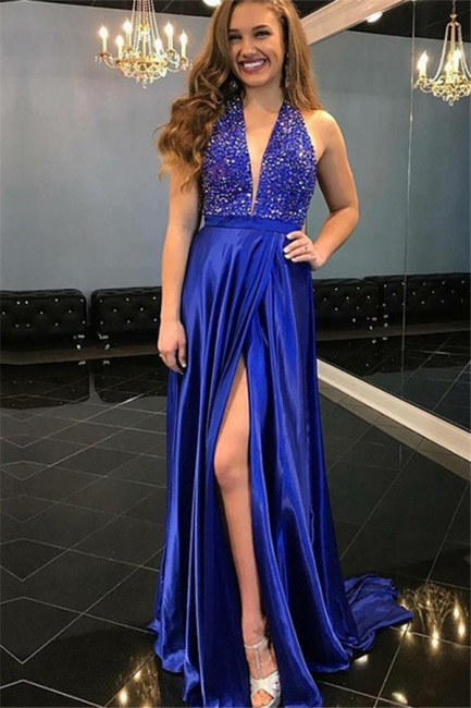 Glamorous Sequins Off-the-Shoulder Prom Dresses Ruffles Sleeveless Mermaid Sexy Evening Dresses