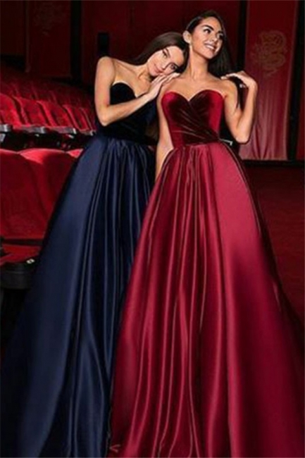 Glamorous Sweetheart Ruffles Prom Dresses Popular Sleeveless Sexy Evening Dresses