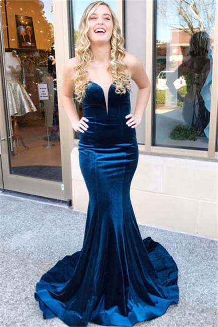 Sweetheart Lace Up Prom Dresses Sleeveless Mermaid Ruffles Sexy Evening Dresses