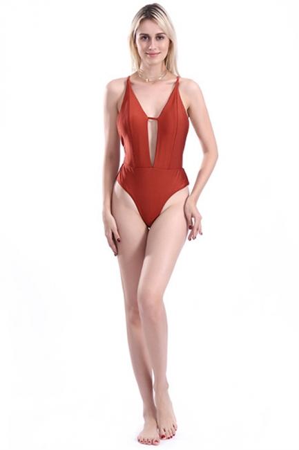 Keyhole Sexy V-Neck Criss-cross High Waist Swimsuits