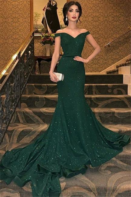 Glamorous One-shoulder Applique Prom Dresses Long Sleeves Side Slit Sexy Evening Dresses with Belt