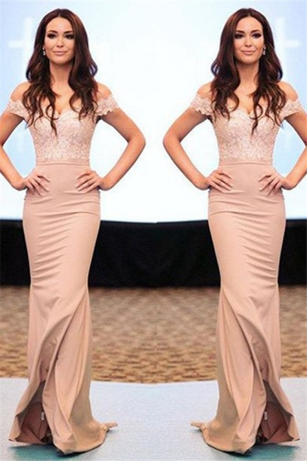 Lace Off-the-Shoulder Prom Dresses  Mermaid Sexy Evening Dresses