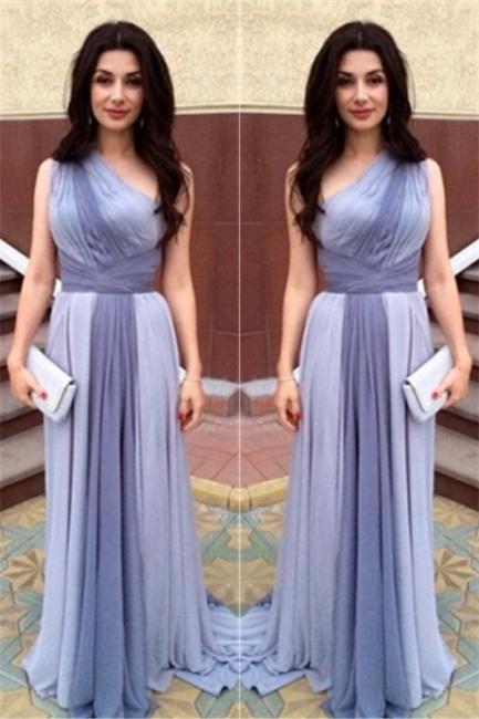 Junoesque Multi Colors One Shoulder Prom Dresses Popular Ombre Bridesmaid Dress