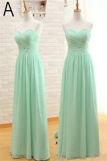 Light Green Ruffles Chiffon Long Bridesmaid Dress  Diverse Popular Dresses for Women