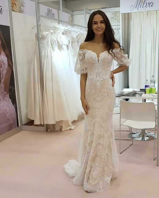 Gorgeous Strapless Tulle Lace Sweetheart Wedding Dress | Bridal Gowns On Sale