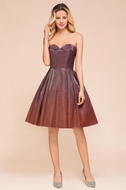 Glamorous Sweetheart Sleeveless Backless Prom Dresses  A-Line Short Formal Dresses