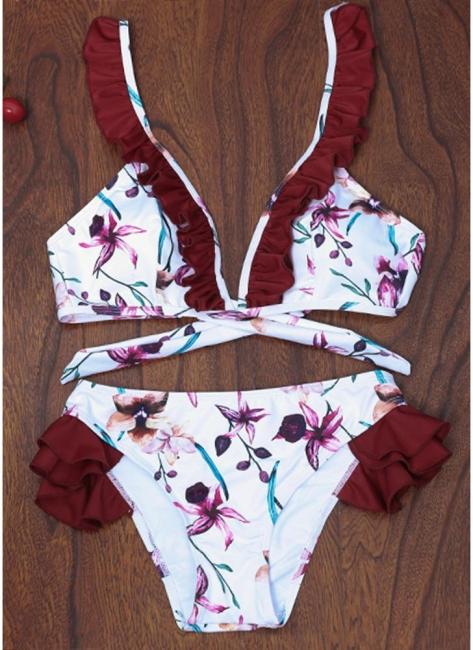 Women Floral Bikini Set UK Push Up Padded Bodycon Bathing Suit UK Swimsuits UK Bathing Suit UK