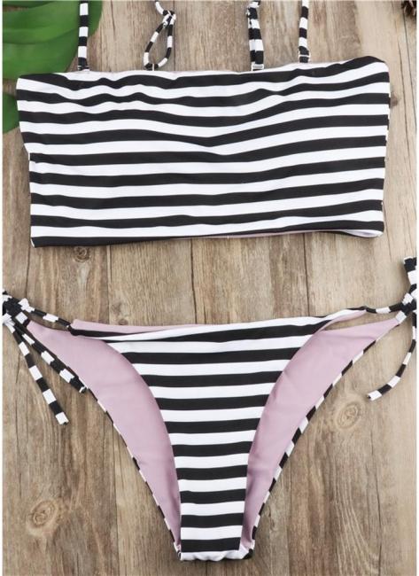 Women Striped Bikini Set UK Spaghetti Strap Summer Beach Bathing Suit UK Swimsuits UK