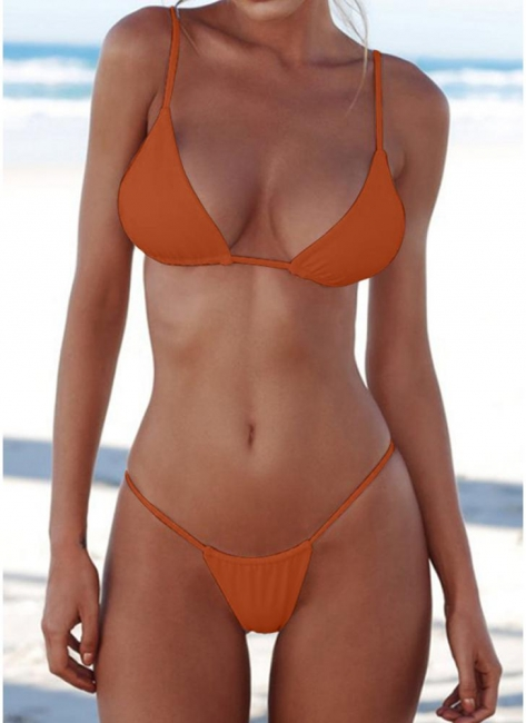 Brazilian Push Up Padded Solid Bikini Set
