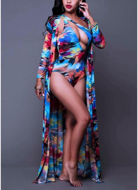 Women Floral Paint Tank Top Set Bathing Suit UK Beach Cover Up Bathing Suit UKs