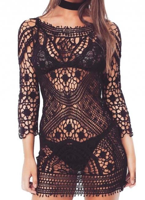 Crochet Lace Floral Bohemia Women Hot Bikini UK Cover Up