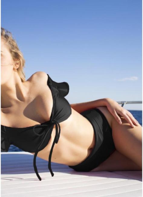Hot Women Bikini Set UK Bathing Suit UK Push Up Swimsuits UK Solid&Leopard&Stripe Bodycon Beach Wear Bathing Suit UK