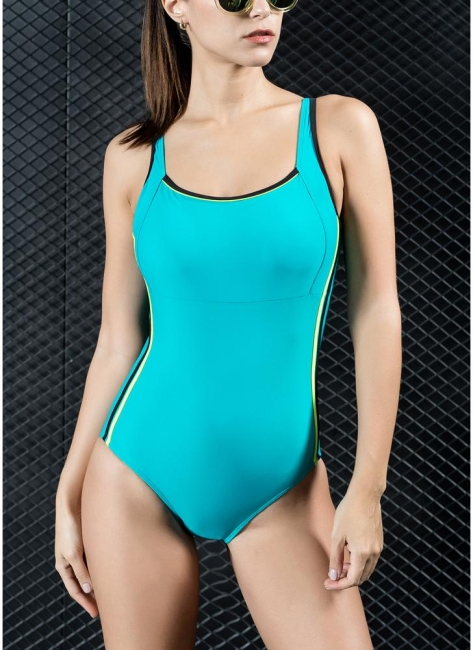 Womens Sports One Piece Swimsuit Bathing Suit Sexy Open Back Splice Racing Training Swimsuit