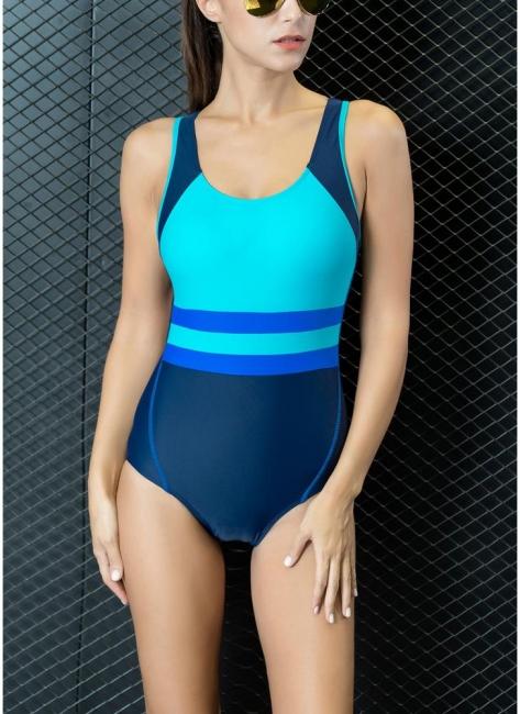 Women One-piece Bathing Suit UK Contrast Color Padded Monokini Swimsuits UK Bathing Suit UK