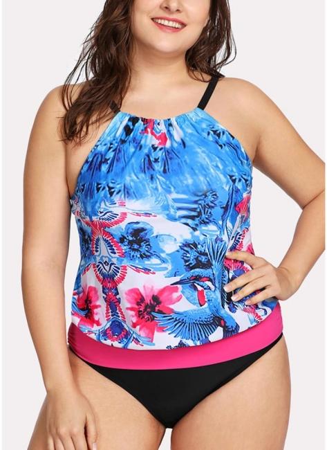 Modern Women Padded Plus Size Swimsuit Push Up Printed Swimwear Bathing Suit