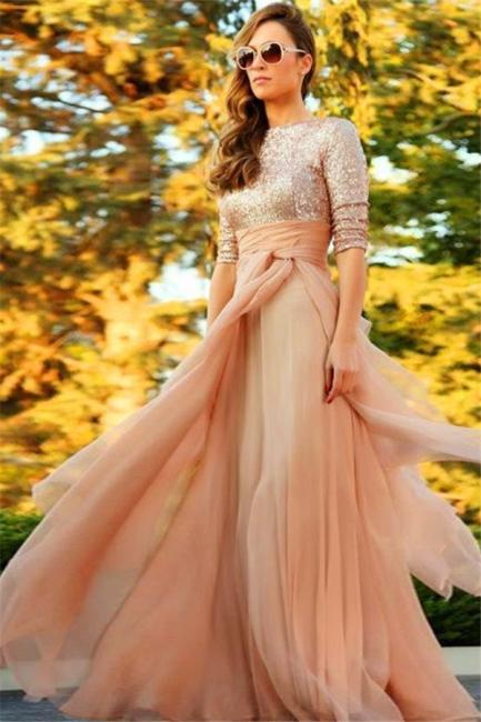 Sparkly Sequins  Bridesmaid Dresses Elegant Chiffon Popular Evening Dress