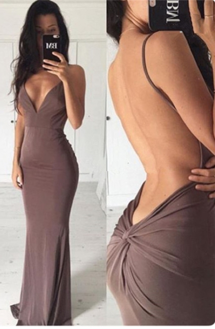 Sexy Backless Sheath Long Summer Dress New Spaghetti Strap  Party Gowns BA3549