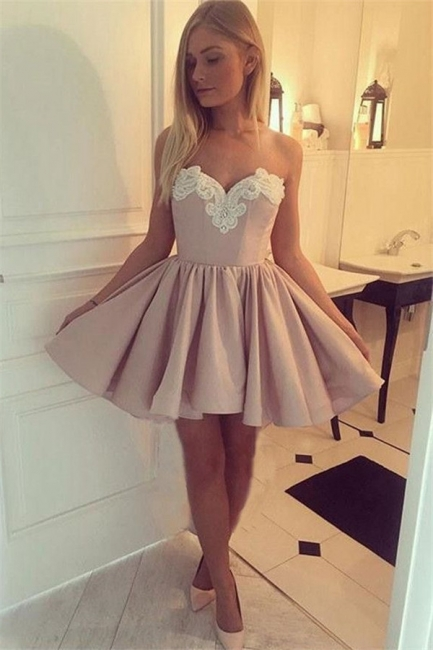 Sexy Sweetheart Short Party Dresses |  Appliques Homecoming Party Dresses Cheap