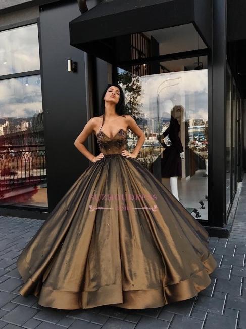 Luxury Sleeveless Sweetheart Evening Dresses  Beaded Ball-Gown Prom Dresses