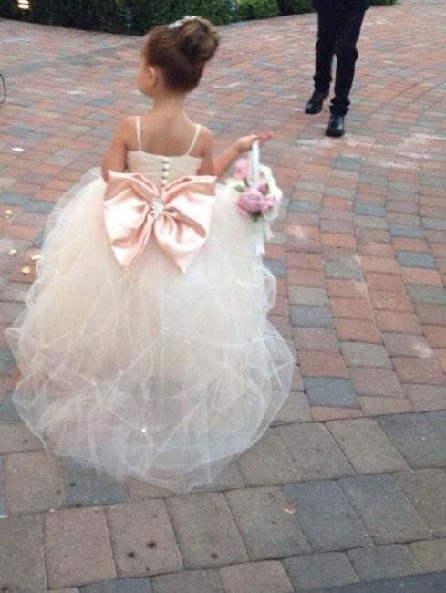 Cute Spaghetti Strap Flower Girl Dress Cute Empire Tulle  Wedding Dress BO8553