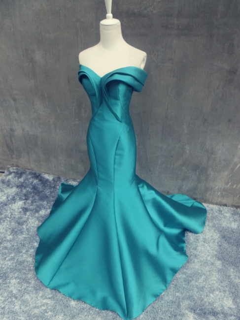 Elegant Off the Shoulder Mermaid Prom Dress New Arrival Zipper Cystom Made  Evening Gown