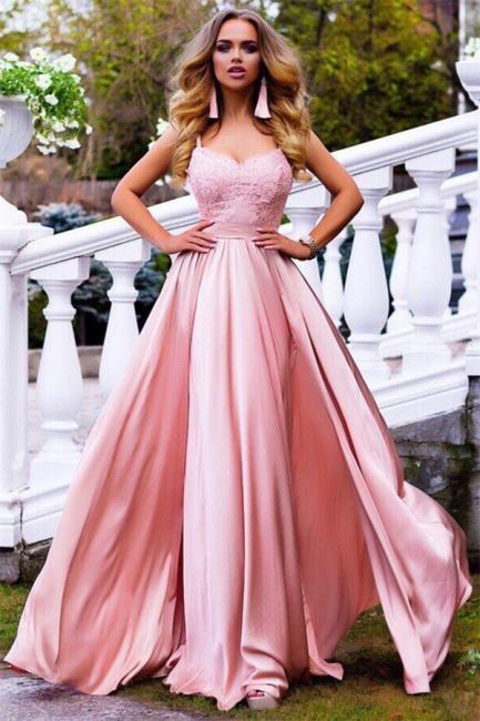 Spaghetti Straps Pink Formal Evening Dresses | Sexy Sleeveless   Ball Dresses AN0007