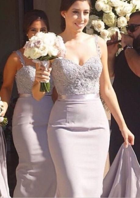 Mermaid  Bridesmaid Dress Lace Beading Bridal Party Maid of Honor Dresses
