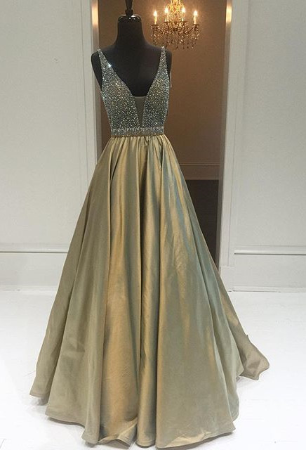 New Arrival Crystal A-Line Prom Dress Latest Beading Floor Length Formal Occasion Dresses BA3165