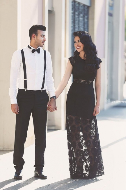 Elegant Black Floor Length Prom Dress New Arrival Custom Made  Plus Size Evening Dress