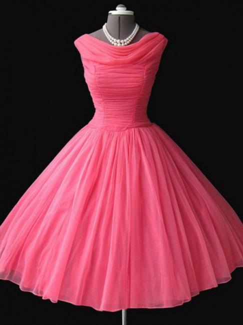 Watermelon Mini Sleeveless Vintage Homecoming Dresses Cute Elegant Cocktail Dresses BA7450