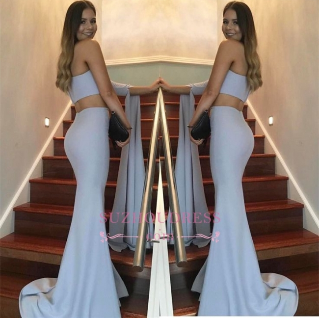 Floor Length Two Pieces Ball Dress One Shoulder Mermaid Stunning  Prom Dress