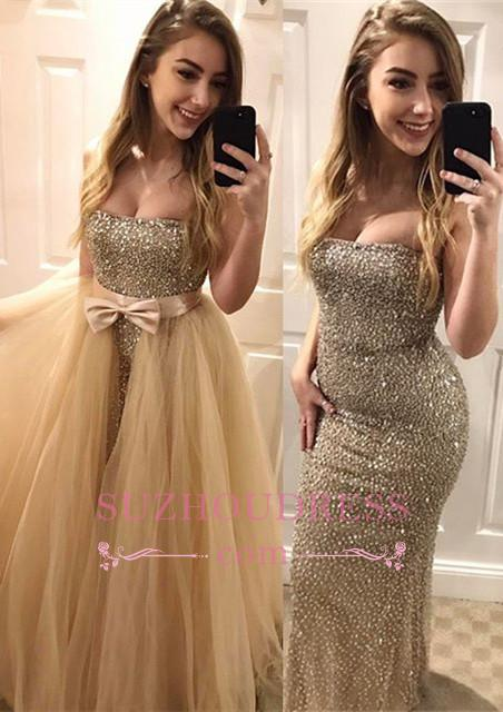 Gorgeous Sweetheart Prom Dress  Bodycon Beads Sleeveless Evening Dress