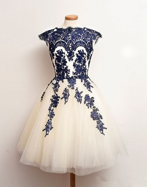 Latest Tulle Lace Mini Homecoming Dress Popular  Plus Size Cocktail Dresses for Women BO8737