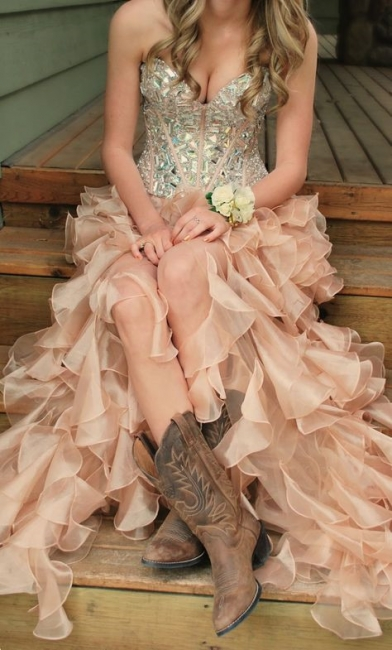 Latest Crystal Side Organza Prom Dress with Rhinestones Sweetheart Floor Length Dresses for Women