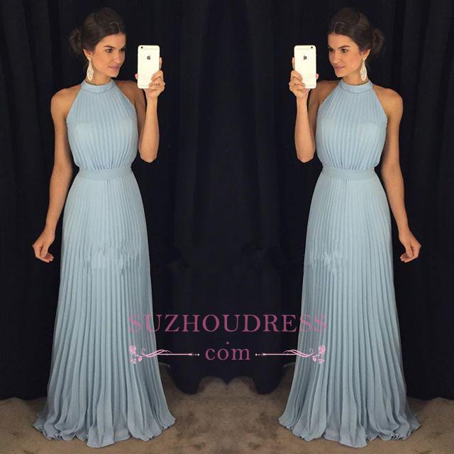 Halter Gorgeous Sleeveless Long Floor-Length Evening Dress