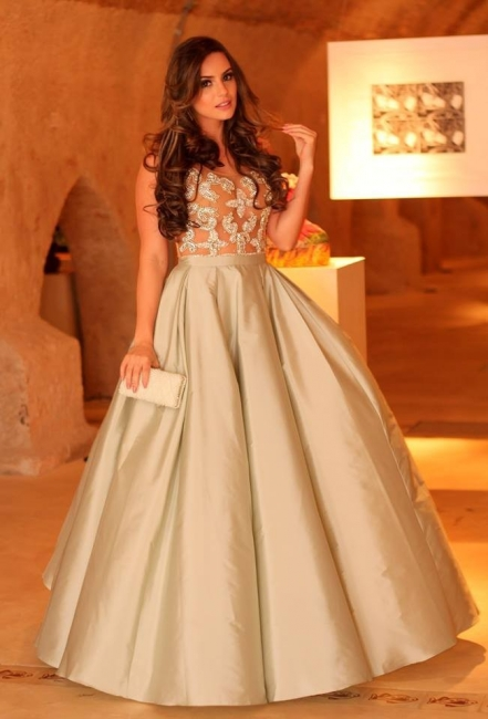 New Arrival Floor Length Ball Gown Evening Dress Tulle Scoop Formal Occasion Dress