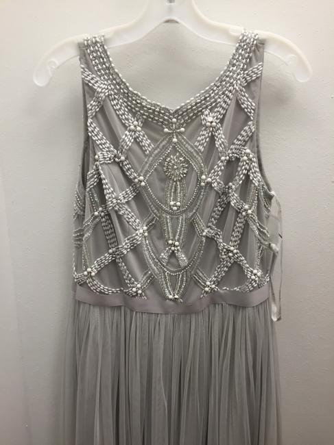 Grey Prom Dresses Beaded Long Evening Dress
