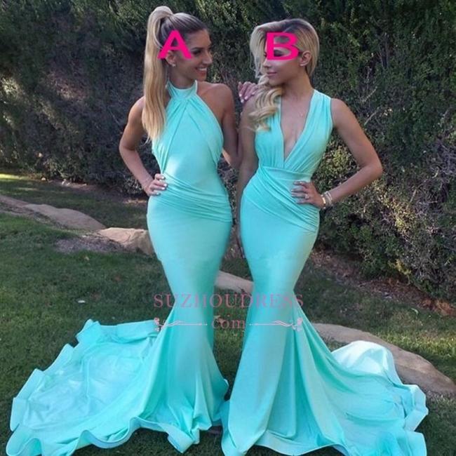 Sleeveless Mermaid Gorgeous Party Evening Dress