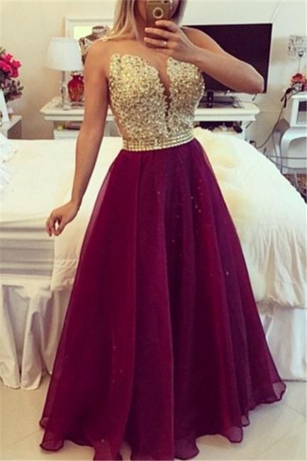 Sweetheart Burgundy Chiffon Long Prom Dress Popular Plus Size Formal Evening Dresses BMT020