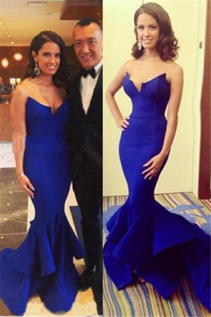 Glamorous Royal Blue Mermaid Evening Dress Long Prom Dress Online cj0025
