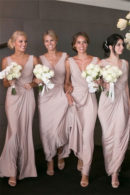 Elegant V-neck Sexy Bridesmaid Dresses   Long Party Dress for Maid of Honor BA7824
